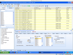 CSVed gestion fichier csv capture